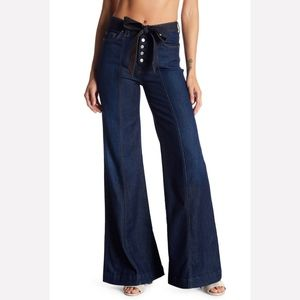 7FAM High Rise Wise Leg Jeans   31